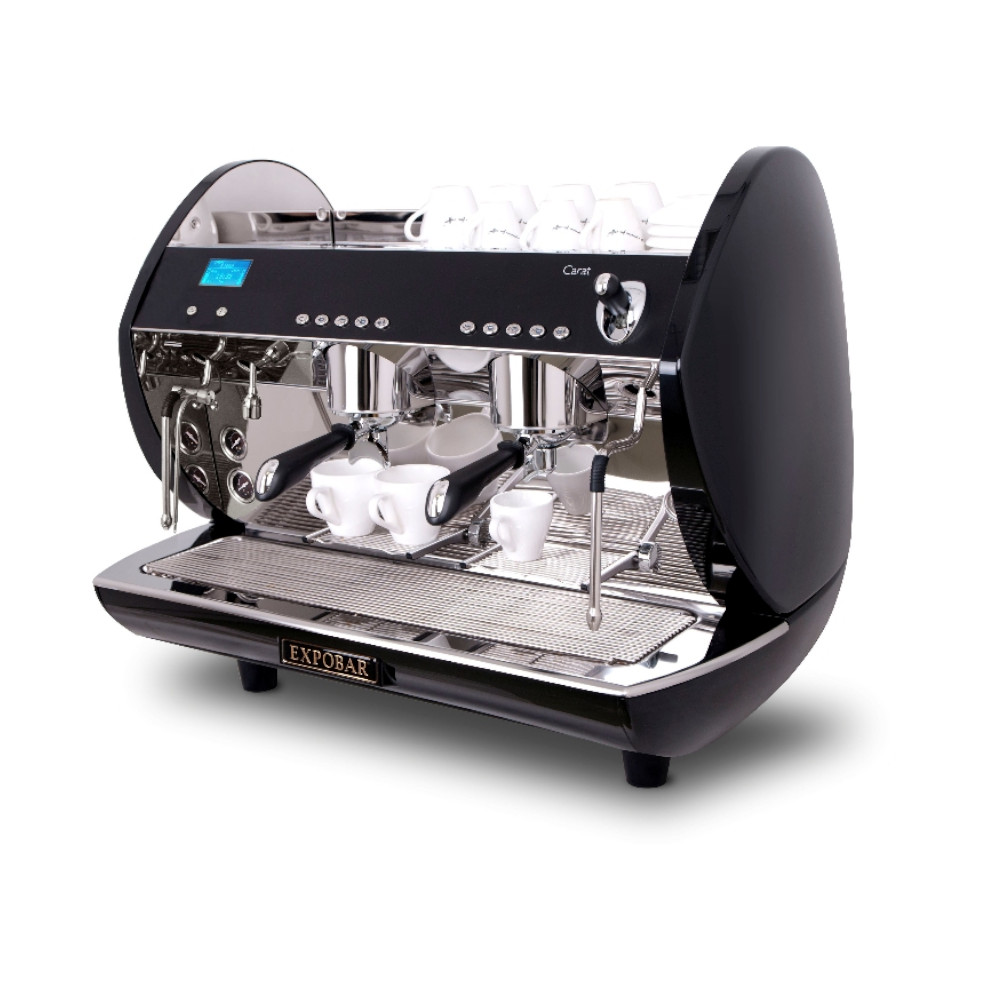 Crem Carat Black 2 Group Coffee Machine