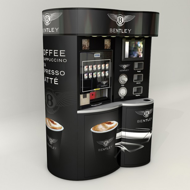 Coffee Station Compact Self Service Coffee Unit Green