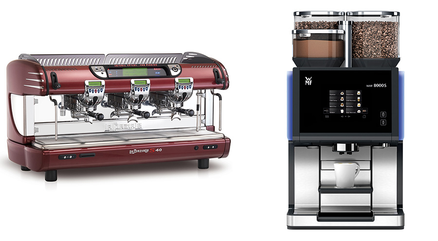Types of commercial coffee machines