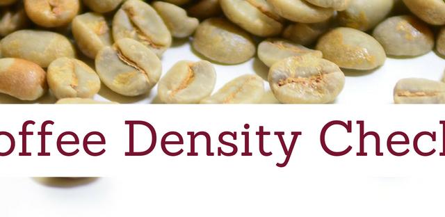 Coffee Density Checks